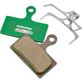 SwissStop Disc 28 Organic Brake Pads Shimano XTR XT / FSA Force Afterburner green